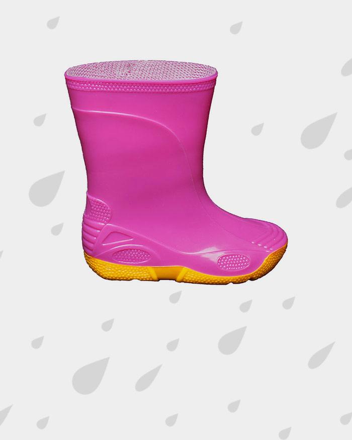 Рожеві гумові чоботи на жовтій підошві Товар скінчився 627b10c04f404